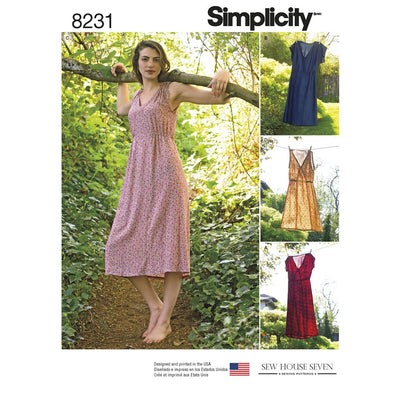 Simplicity Pattern 8231 Womens Dress in Two Lengths Image 1 From Patternsandplains.com