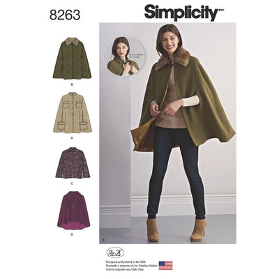 Simplicity Pattern 8263 Womens Capes and Capelets Image 1 From Patternsandplains.com