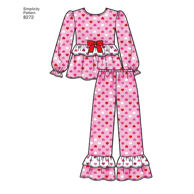 Simplicity Pattern 8272 Childs and Girls Sleepwear and Robe Image 1 From Patternsandplains.com