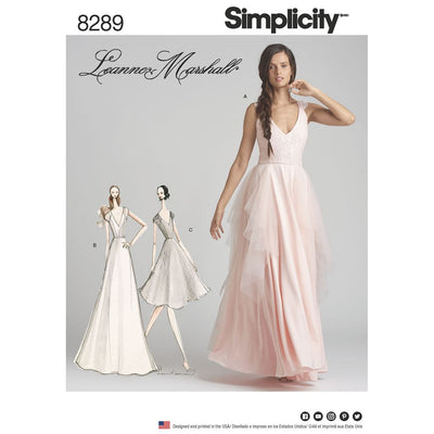 Simplicity Pattern 8289 Womens Special Occasion Dresses Image 1 From Patternsandplains.com