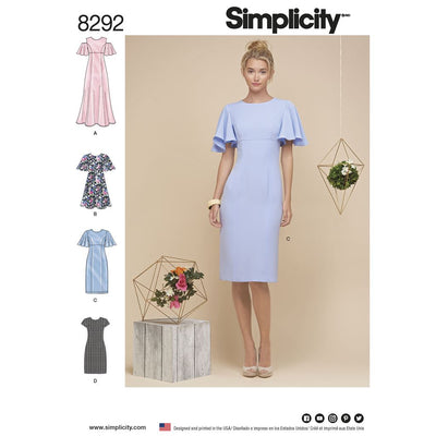 Simplicity Pattern 8292 Womens Dresses Image 1 From Patternsandplains.com