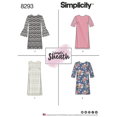 Simplicity Pattern 8293 Womens Petite Dresses Image 1 From Patternsandplains.com