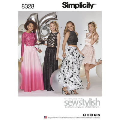Simplicity Pattern 8328 Womens Special Occasions Dress Image 1 From Patternsandplains.com