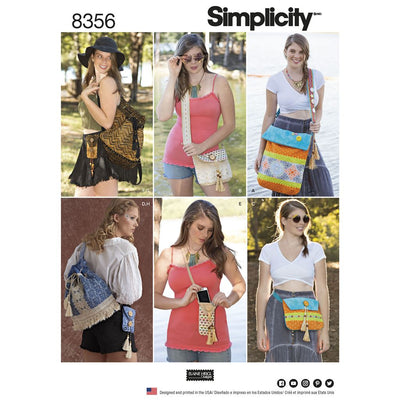 Simplicity Pattern 8356 Festival Bags in Four Sizes Image 1 From Patternsandplains.com