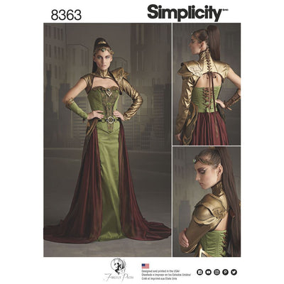 Simplicity Pattern 8363 Womens Fantasy Ranger Costume Image 1 From Patternsandplains.com