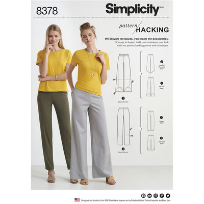 Simplicity Pattern 8378 Womens Knit Trouserswith Two Leg Widths and Options for Design Hacking Image 1 From Patternsandplains.com