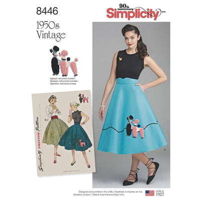 Simplicity Pattern 8446 Womens Vintage Skirt and Cummerbund Image 1 From Patternsandplains.com