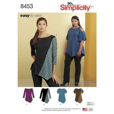 Simplicity Pattern 8453 Womens Knit Tops Image 1 From Patternsandplains.com