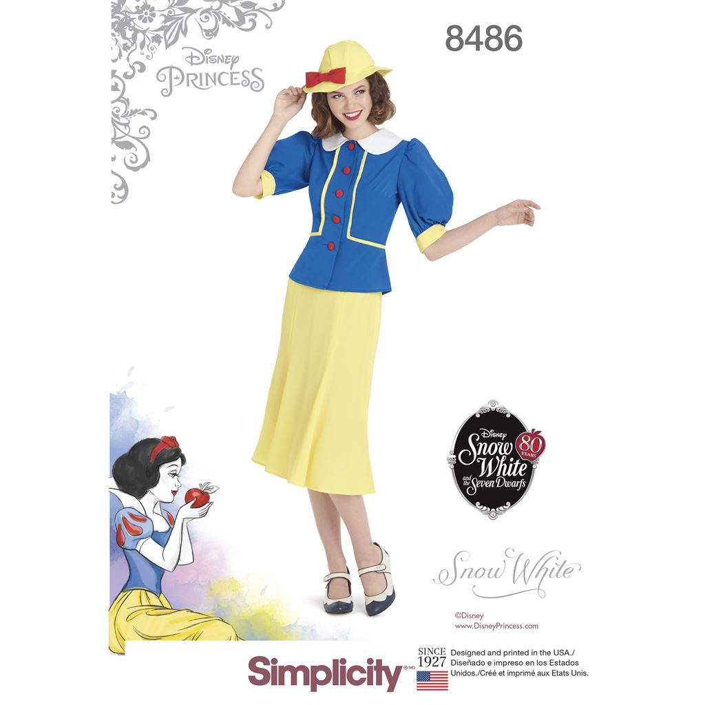 bf54e4ef377 Simplicity Pattern 8486 Womens 1930s Snow White Dress and Hat Image 1 From  Patternsandplains.com