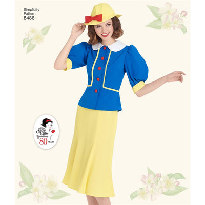Simplicity Pattern 8486 Womens 1930s Snow White Dress and Hat Image 1 From Patternsandplains.com