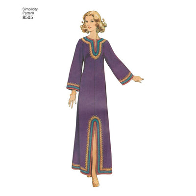 Simplicity Pattern 8505 Misses Vintage Caftans Image 1 From Patternsandplains.com