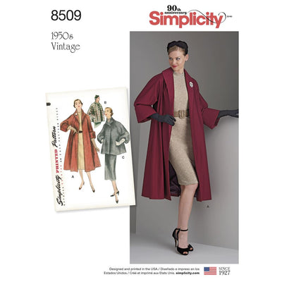 Simplicity Pattern 8509 Misses Vintage Coat or Jacket Image 1 From Patternsandplains.com