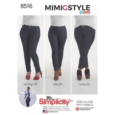 Simplicity Pattern 8516 Misses Mimi G Skinny Jeans Image 1 From Patternsandplains.com