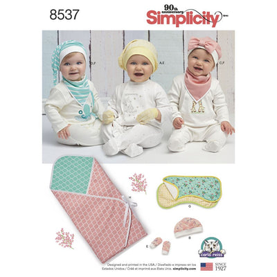 Simplicity Pattern 8537 Baby Accessories Image 1 From Patternsandplains.com