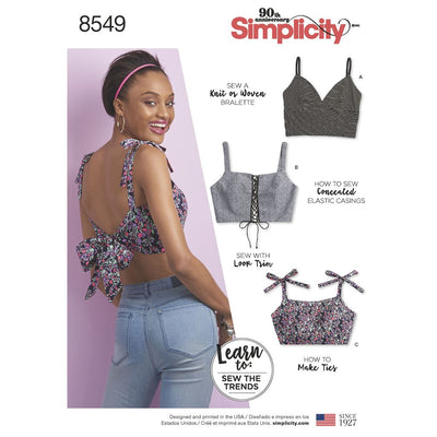 Simplicity Pattern 8549 Womens Bra Tops Image 1 From Patternsandplains.com
