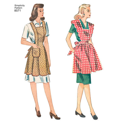 Simplicity Pattern 8571 Womens Vintage Aprons Image 1 From Patternsandplains.com