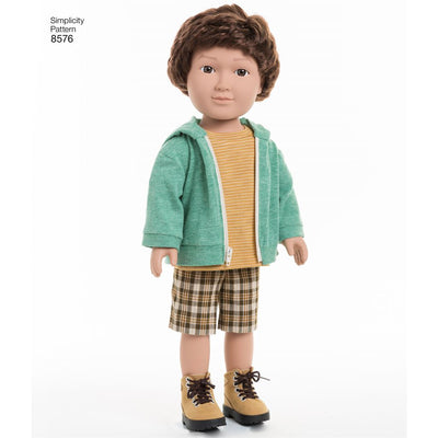 Simplicity Pattern 8576 Unisex Doll Clothes Image 1 From Patternsandplains.com