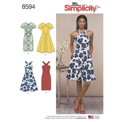 Simplicity Pattern 8594 Womens Petite Womens Dresses Image 1 From Patternsandplains.com