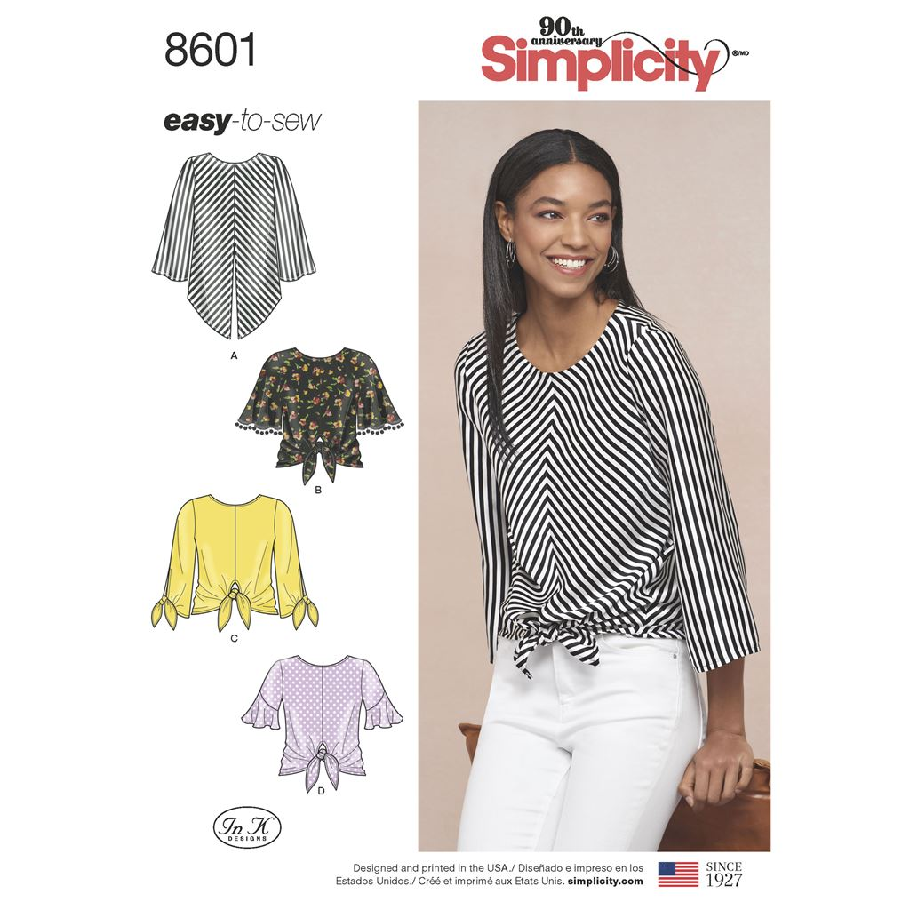Simplicity Pattern 8601 Womens Pullover Tops Image 1 From Patternsandplains.com