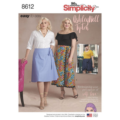 Simplicity Pattern 8612 Womens Easy Wrap Skirts by Ashley Nell Tiption Image 1 From Patternsandplains.com