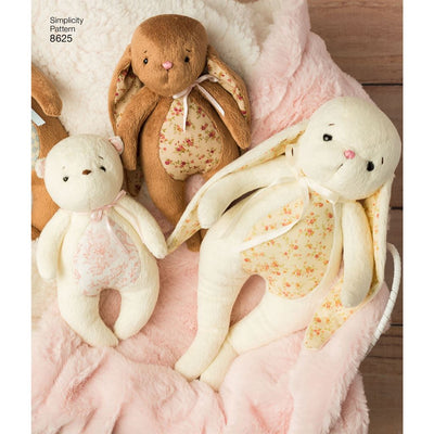 Simplicity Pattern 8625 Stuffed Animals and Gift Bags Image 1 From Patternsandplains.com