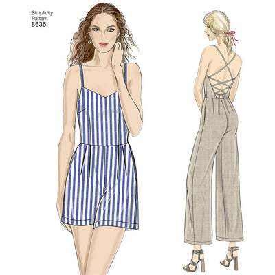 Simplicity Pattern 8635 Womens Dress Jumpsuit and Romper Image 1 From Patternsandplains.com
