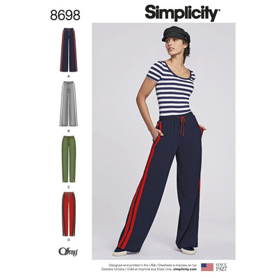 Simplicity Pattern 8698 Womens Pull On Pant Image 1 From Patternsandplains.com