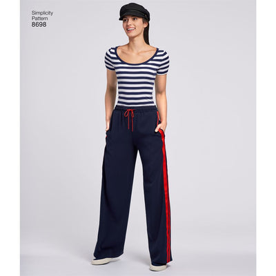 Simplicity Pattern 8698 Womens Pull On Pant Image 4 From Patternsandplains.com