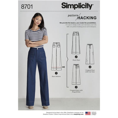 Simplicity Pattern 8701 Womens Trousers with Options for Design Hacking Image 1 From Patternsandplains.com