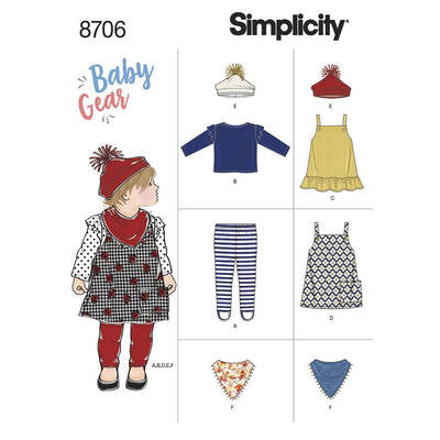 Simplicity Pattern 8706 Baby Gear Separates Image 1 From Patternsandplains.com