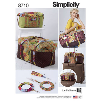 Simplicity Pattern 8710 Luggage Bags Key Ring and Tassel Image 1 From Patternsandplains.com