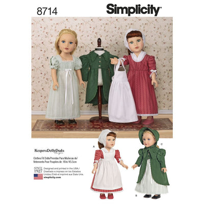 Simplicity Pattern 8714 18 Doll Clothes Image 1 From Patternsandplains.com