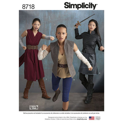 Simplicity Pattern 8718 Womens Costumes Image 1 From Patternsandplains.com