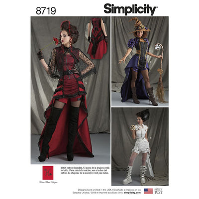 Simplicity Pattern 8719 Womens Costumes Image 1 From Patternsandplains.com