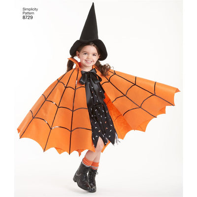 Simplicity Pattern 8729 Childs Cape Costumes Image 4 From Patternsandplains.com