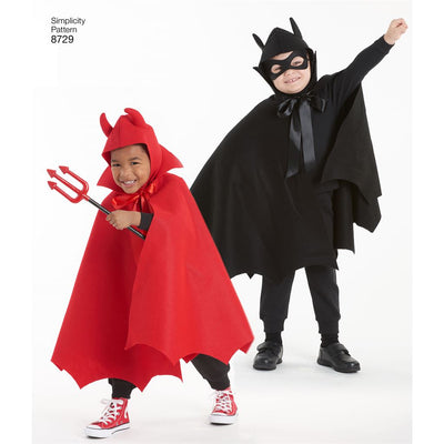 Simplicity Pattern 8729 Childs Cape Costumes Image 5 From Patternsandplains.com