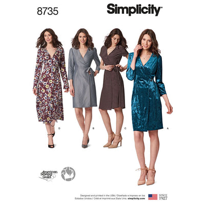 Simplicity Pattern 8735 Womens Petite Womens Wrap Dress Image 1 From Patternsandplains.com