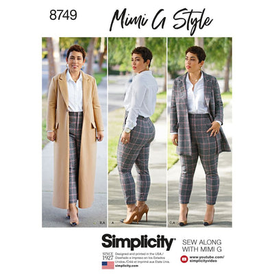 Simplicity Pattern 8749 Womens Plus Size Mimi G Style Coat and Pant Image 1 From Patternsandplains.com