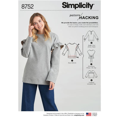 Simplicity Pattern 8752 Womens Knit Tops with Options for Design Hacking Image 1 From Patternsandplains.com