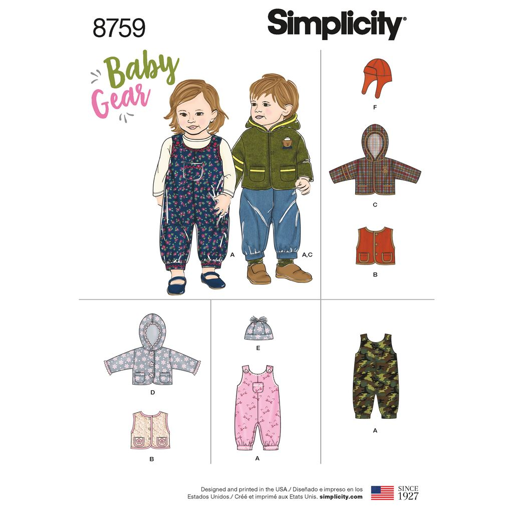 Simplicity Pattern 8759 Babies Sportswear Image 1 From Patternsandplains.com