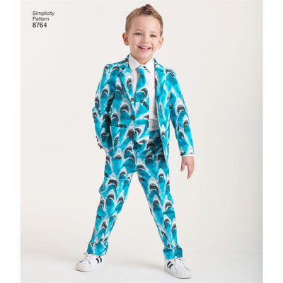 Simplicity Pattern 8764 Boys Suit and Ties Image 3 From Patternsandplains.com