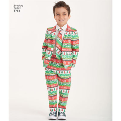 Simplicity Pattern 8764 Boys Suit and Ties Image 4 From Patternsandplains.com