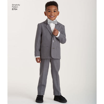 Simplicity Pattern 8764 Boys Suit and Ties Image 7 From Patternsandplains.com