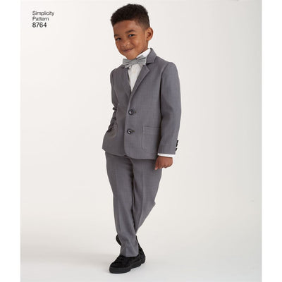 Simplicity Pattern 8764 Boys Suit and Ties Image 8 From Patternsandplains.com