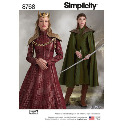 Simplicity Pattern 8768 Womens Fantasy Costumes Image 1 From Patternsandplains.com