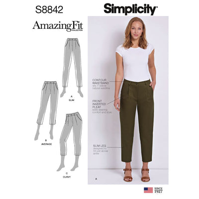 Simplicity Pattern S8842 Misses Petite Amazing Fit Pants 8842 Image 1 From Patternsandplains.com