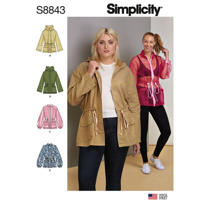 Simplicity Pattern S8843 Misses Anorak Jacket 8843 Image 1 From Patternsandplains.com