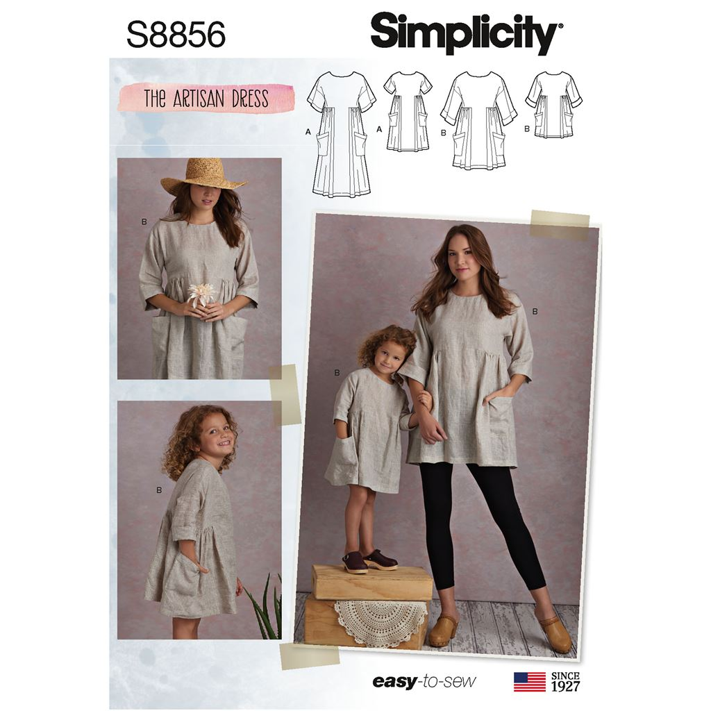 Simplicity Pattern S8856  Childs and Misses Dress and Tunic 8856 Image 1 From Patternsandplains.com
