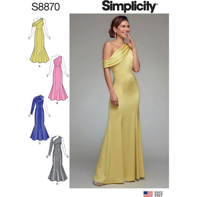 Simplicity Sewing Pattern S8870 Misses Miss Petite Dress 8870 Image 1 From Patternsandplains.com