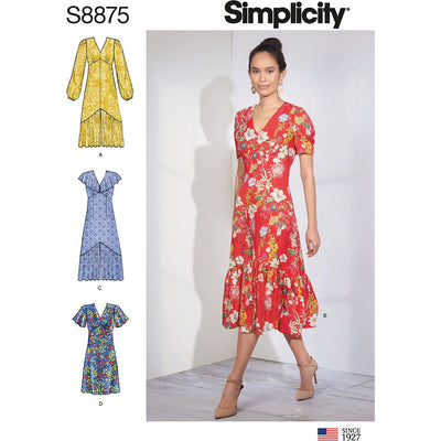 Simplicity Sewing Pattern S8875 Misses Dresses 8875 Image 1 From Patternsandplains.com